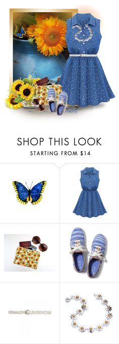 """Summertime Folly"" by berry1975 ❤ liked on Polyvore featuring Chicnova Fashion, Keds, Forever New, Daisy Jewellery, PolkaDots, sunglasses, summerstyle and sneakers"
