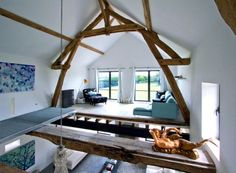 French barn converted into family home. Interior designer: Josephine Gintzburger