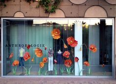 Anthropologie Flowers window design. They do have the coolest windows.....would love to meet their designers!