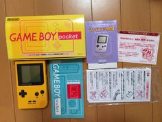 Here's a boxed Japanese Yellow Game Boy Pocket!
