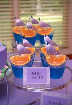 Jello Boats - perfect for boy baby shower!