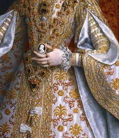 La Infanta Isabel Clara Eugenia y Magdalena Ruiz, 1585. Detail.