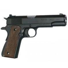 TISAS ZIG M1911 Classic Semi Automatic Pistol .45 ACP 5 Barrel 8 Rounds Walnut Grips Matte Black Finish GTZM11BL