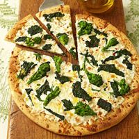 brocolli rabe and smoked mozzarella pizza recipe from fitness magazine