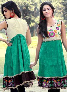 Green Embroiderer kurti