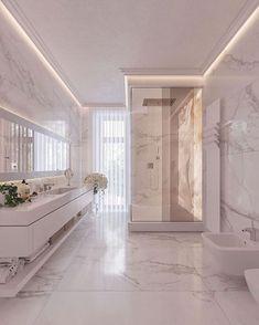 47 Comfy And Glamorous Bathroom Decor Ideas - Design Bad Inspiration, Bathroom Inspiration, Dream House Interior, Interior Design Living Room, Design Interiors, Dream Bathrooms, Beautiful Bathrooms, Bathroom Design Luxury, Modern Bathroom