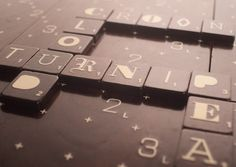 Limited edition Scrabble Typography. LOVE!
