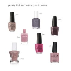 Fall and Winter Nail Colors