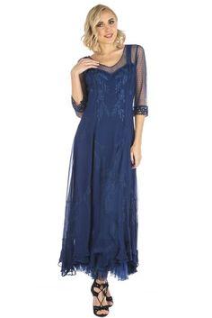 Mother of the Bride Dresses by Nataya Royal Blue Party Dress, Royal Blue Gown, Royal Blue Dresses, Victorian Era Dresses, Victorian Fashion, Vintage Fashion, Vintage Inspired Dresses, Vintage Style Dresses, Dress Vintage