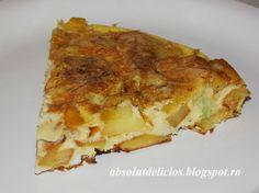 Absolut Delicios - Retete culinare: OMLETA CU CARTOFI (TORTILLA DE PATATAS)