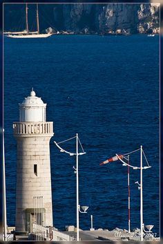 Cannes old Lighthouse by amaindrault - rockinpix.com, via Flickr ~ French Riviera