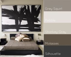 Some might find this color scheme boring, but I think it's serene. Love that painting.