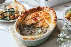 Creamy Leek and Mushroom Pie (Vegan)