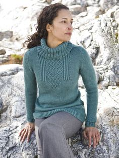 aquamarina pullover (Norah Gaughan for Berocco) - love the yoke detail!