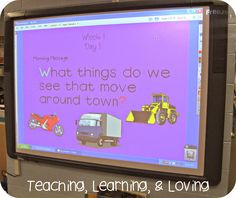 Teaching, Learning, & Loving: 25 Ways to Teach Sight Words! Morning Message, sight words, and letter of the week, and sentence builders.