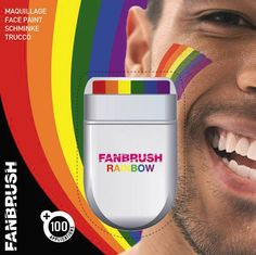 SPACE YOUTH PROJECT FANBRUSH FACE AND BODY PAINT RAINBOW LGBT+ PRIDE COLOURS