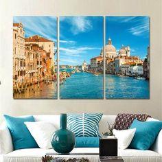 Venice Italy Grand Canal Artwork Set #OilPaintingFood