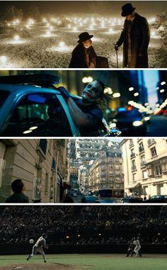 Good cinematography / the prestige,  the dark knight, inception & moneyball