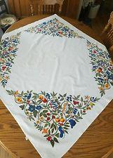 Vintage Wilendur Cotton Print Fast Color Tablecloth Fruit Vines Print 50×52
