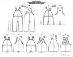 Kids Illustrator Mix & Match Flat Sketch Templates - Fashion Industry Network
