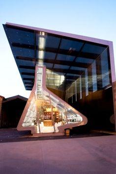 Tondonia Winery , La Rioja Spain by Zaha Hadid Zaha Hadid Architecture, Pavilion Architecture, Futuristic Architecture, Contemporary Architecture, Amazing Architecture, Architecture Design, Zaha Hadid Design, Architectes Zaha Hadid, Famous Architects