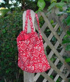 Red Western Bandana Print Backpack for Teen by ThisandThatCrafter, $18.00