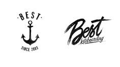 Various typographical treatments for Best kiteboards fall clothing collection 13.