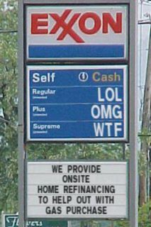 "Gas prices in Southern California...good thing my Jeep takes ""LOL"""