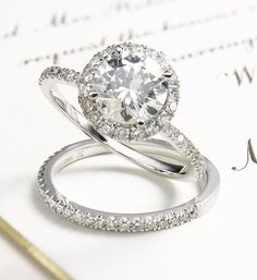 Now, this is a way to take a girl's breath away. This stunning diamond engagement ring is as gorgeous as they come.