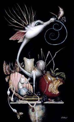 Art Et Illustration, Illustrations, Pop Art, Art Fantaisiste, The Embrace, Rabbit Art, Wine Art, Arte Horror, Lowbrow Art