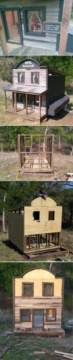 Chicken Coop - 15 More Awesome Chicken Coop Designs and Ideas | How To Build A House For Your Homestead Chickens by Pioneer Settler at pioneersettler.co... Building a chicken coop does not have to be tricky nor does it have to set you back a ton of scratch.