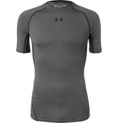 Under Armour Heatgear Compression T-Shirt Under Armor Shorts, Compression T Shirt, Anthony Joshua, Under Armour Men, Second Skin, Chef Jackets, Sportswear, Man Shop, Mens Fashion