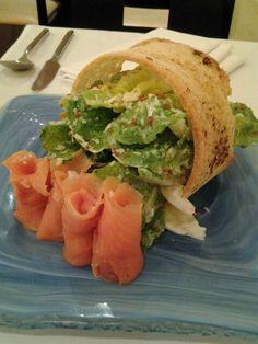 Caesar Salad with Smoked Salmon at Movenpick Hotel and Spa, Mactan, Cebu