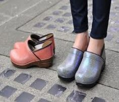 how to make Dansko's cute rather than frump. show a cropped pants.