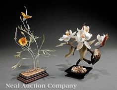 Request a condition report on this item Wax Flowers, July 17, Art Object, New Orleans, Joseph, Sculpting, Auction, Objects, Enamel