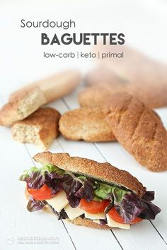 Sourdough Keto Baguettes (low-carb, keto, primal)