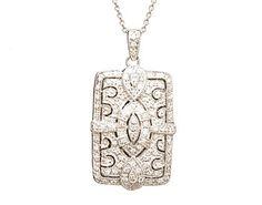 vintage pave diamond locket.