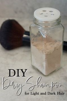 DIY Dry Shampoo Recipe for Light or Dark Hair | RecipeswithEssentialOils.com