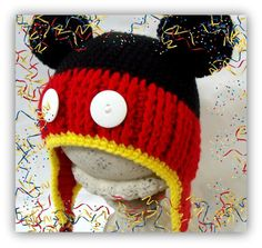 Mickey Mouse Hat Pattern. Toddler and Adult Sizes