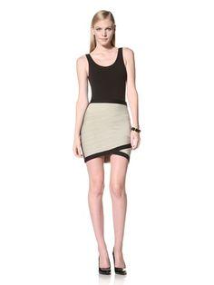 70% OFF Stretta Women\'s Barbie Bandage Tube Skirt (Green Heather/Black)