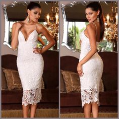EQ 200 White Crochet Party DressExcellent QualityFabric Crochet Polyester, a bit ElasticBust 80 Waist 70 Hips 80 Length 110Back Zipper sebelum membeli tanyakan ketersediaan stok terlebih dahulu infowa 081237304540 bb pin 551fd9be Happy shopping