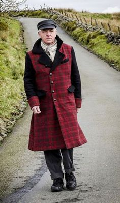 Couture Tartan Overcoat by Lou S'Cat