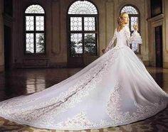 Nieuwe luxe kralen een lijn lange kant bruids jurken bruiloft dresses++++