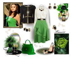"""green"" by lumi-21 ❤ liked on Polyvore featuring Hervé Léger, Lanvin, Christian Louboutin, Kendra Scott, Modloft, Dolce&Gabbana, Forever New, Muuto, Burberry and Soru Jewellery"