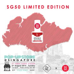 Special SG50 Limited Edition QTTiE GELLY will be launched exclusively at the event! Look forward to uniquely Singaporean names, such as Samsui Woman, Merlion White, Bandung Pink, Kopi 'C', chilli crab & more!