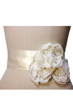 Fleur Bridal Sash  Wedding beltrhinestones by PantoraBridal, $40.00