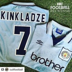 1995-97 Manchester City shirt Kinkladze #7 from @cultfootball  - get 10% in our shop now. Ends Sat  #manchestercity #mancity #mcfc #maineroad #etihad #georgikinkladze #kinkladze #georgia #georgian #premierleague #retrofootball #retrofootballshirt #vintagefootball #umbro #umbrofootball #footballshirt #soccershirt #soccerjersey #football #90s #90sfootball #footballshirtcollective #classicfootballshirts #shirtcollection #footballmemorabilia #cultfootball #footballshirtcollective