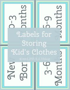 Free Printable Children S Clothing Size Labels Printable Clothing