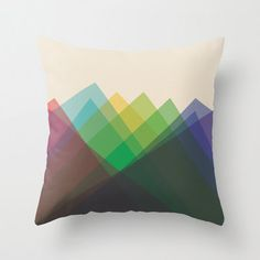 "ETSY_iamchristinabot_16""x16"" Colorful Geometric Triangle Throw Pillow COVER ONLY"