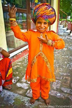 child in traditional clothing-north india